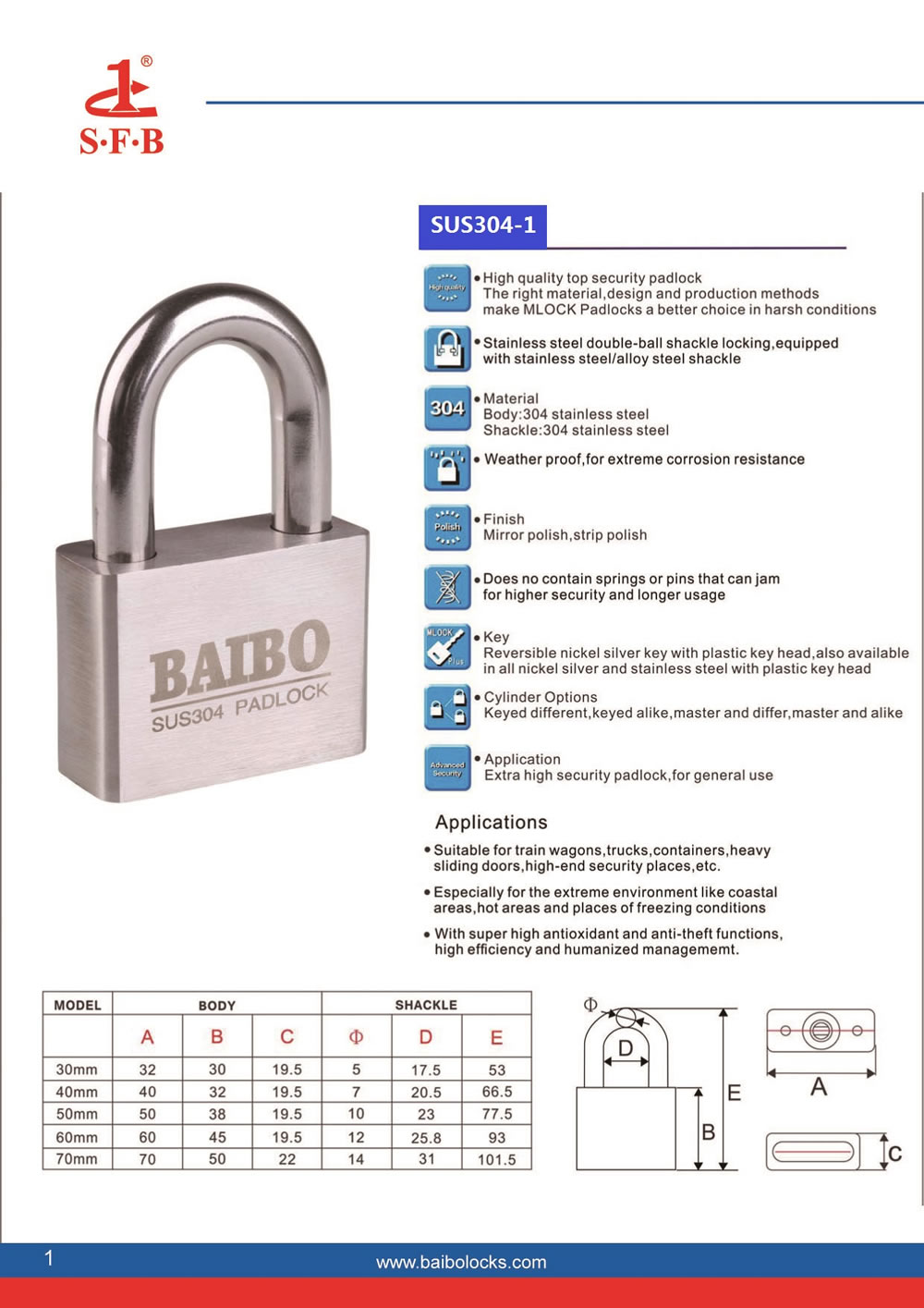 Stainless steel padlock,Stainless steel padlock